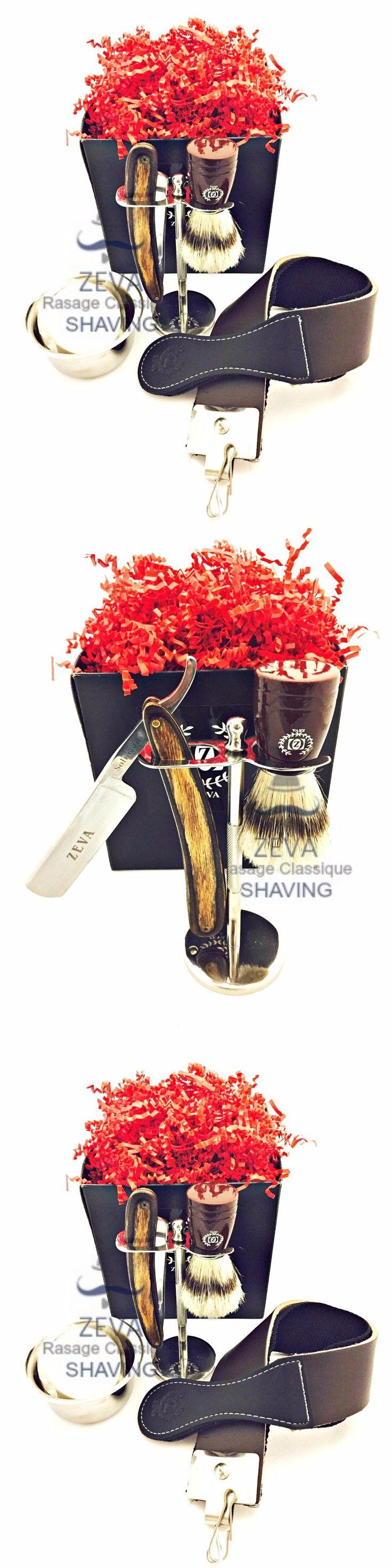 Straight Razors: Best Straight Razor Shavette Shaver Men Travel Shave Kit Classic Rasoir Brush BUY IT NOW ONLY: $71.24