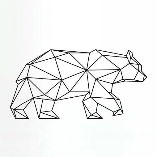 A simple but powerful geometric  bear in motion, perfect to be worn on wrist or ankle, for all free spirit and nature loving man. Style: Geometric. Color: Black. Tags: Creative, Crazy, Nice, Easy, Badass, Elegant