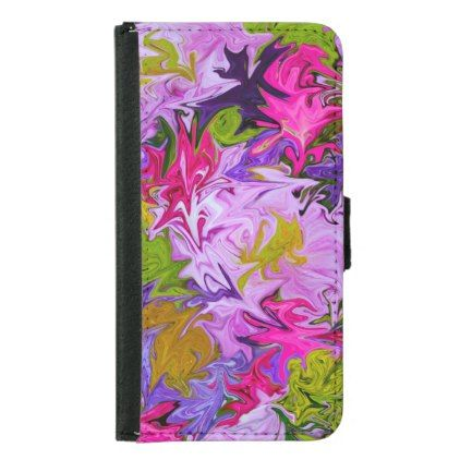Bouquet of Colors Floral Abstract Art Design Samsung Galaxy S5 Wallet Case - floral style flower flowers stylish diy personalize