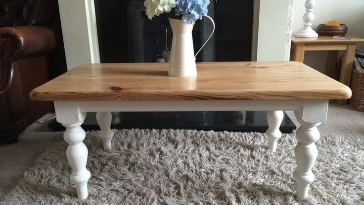 Beautiful restored Coffee Table, painted in Chalk Paint and the top sanded back to natural and finished with wax.