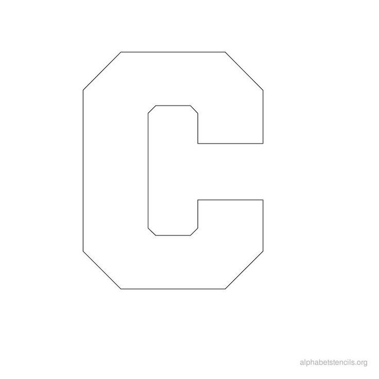 Free printable block letter stencils alphabet stencils c for C letter block