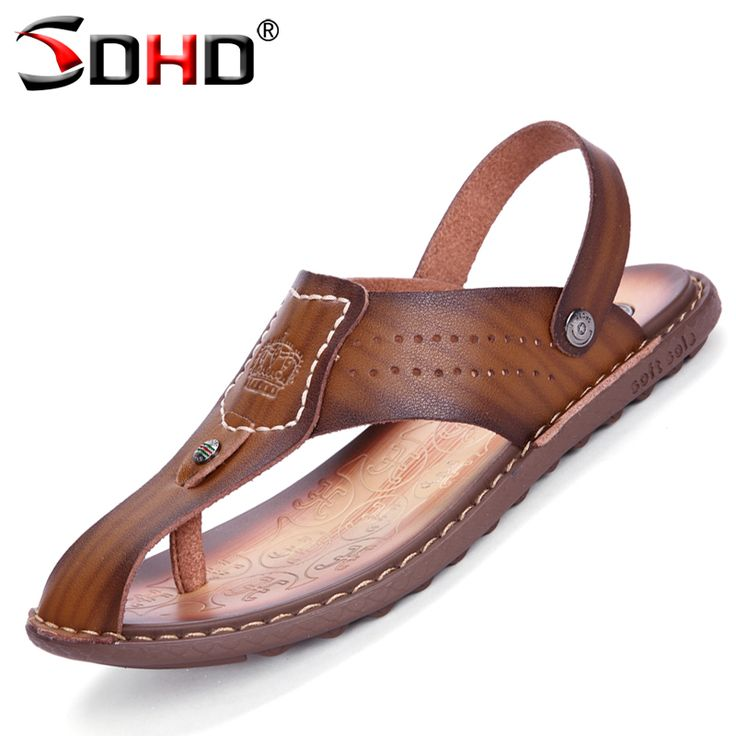 Outdoors Slippers Flip Flops Men Flip-flops Sandals Flats Mens Slippers Casual Summer walking Shoes Fashion cool Leather Flops