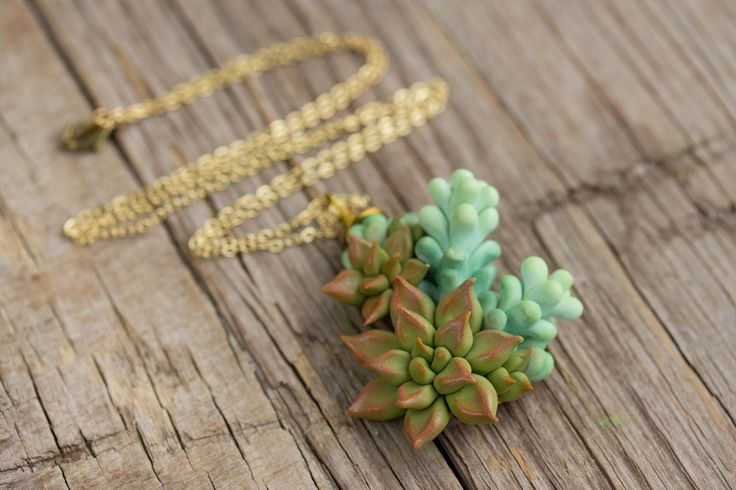 Green Blue Red Succulent Pendant Necklace Wholesale Succulent Plants Metal Basis Pendant Jewelry Succulent Wedding Bridal Birthday Gift by EtenIren on Etsy