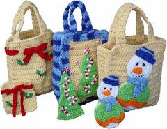 Christmas Gift Bags Set 1 Crochet Pattern