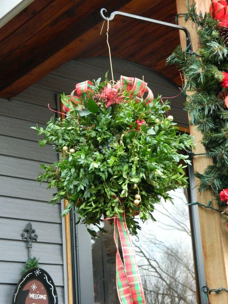 weihnachtsdeko selber machen drau en kissing ball veranda terrasse garten advent pinterest. Black Bedroom Furniture Sets. Home Design Ideas