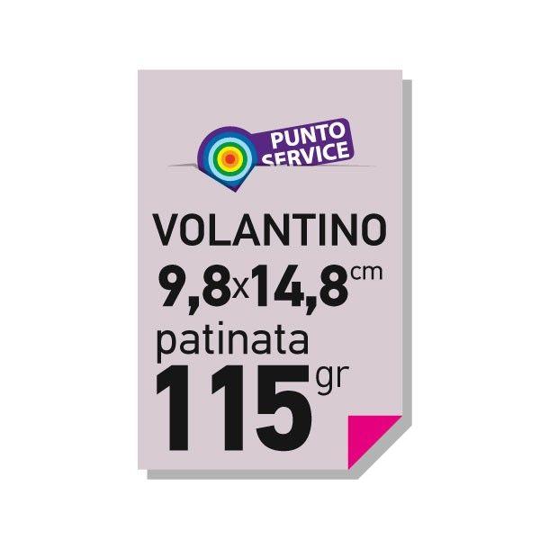 Volantini 9,8x14,8 patinata 115 gr