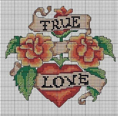 True Love Cross Stitch Chart