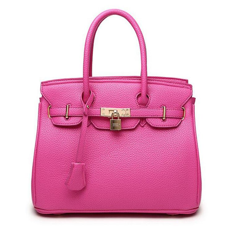 New Original Fashion Orange Top High Quality Luxury Lock Designer Handbags Famous Brand Real Women Bag Evening Bags Totes FR028