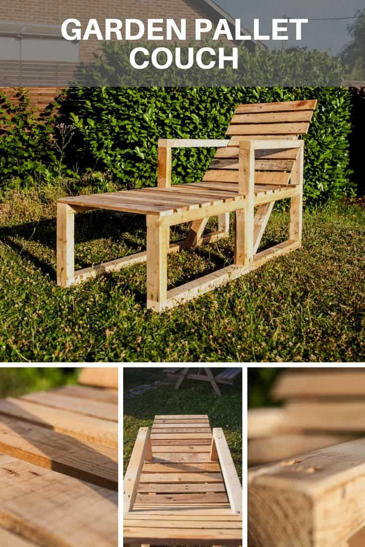 garden pallet couch transat en palettes farm bar. Black Bedroom Furniture Sets. Home Design Ideas