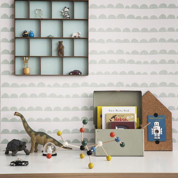 Ferm Living Half Moon wallpaper, mint | Wallpapers | Decoration | Finnish Design Shop