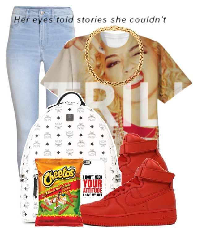 """Dope Swag 2016"" by bxby-girl-rielle ❤ liked on Polyvore featuring H&M, NIKE, MCM and Casetify"