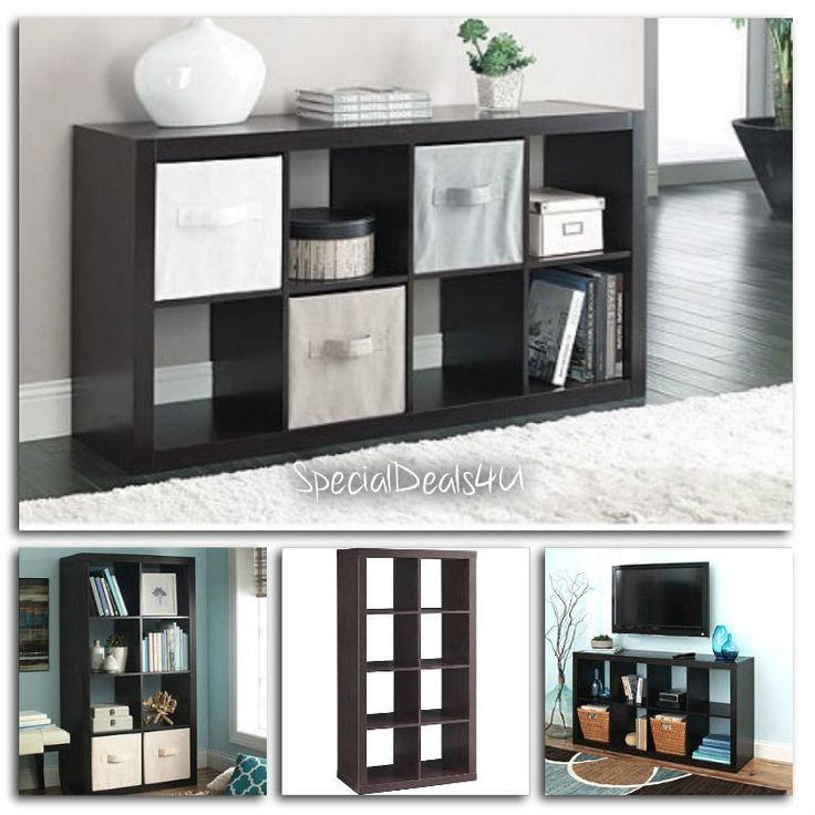 Organizer 8 Cube Multiple Versatile Storage Book Shelves Eight Bookcase Square E #SD4U #ModernContemporary
