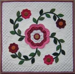 rose of sharon quilt pattern | ... line method applique quilting books for quilts crafts clothing