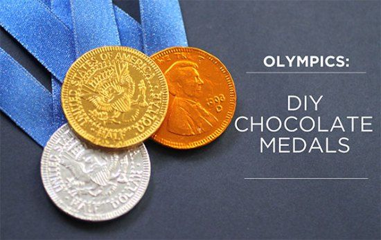 Olympic Chocolate Medals DIY