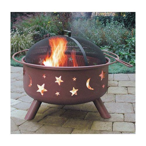Found it at Wayfair - Big Sky Stars and Moon Fire Pit. 95$ 23'H  x 29'W x 29'D perfect for small patio.