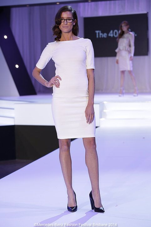 Loved this neat white frock from The 400 Co.