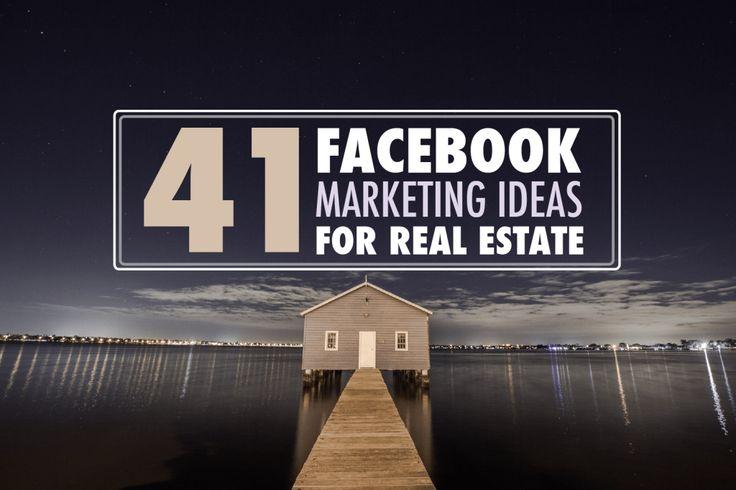 41 Facebook Marketing Ideas For Realtors – It's Time To Get Leads!  #facebookrealestate #facebookrealestatemarketing #facebookforrealestate