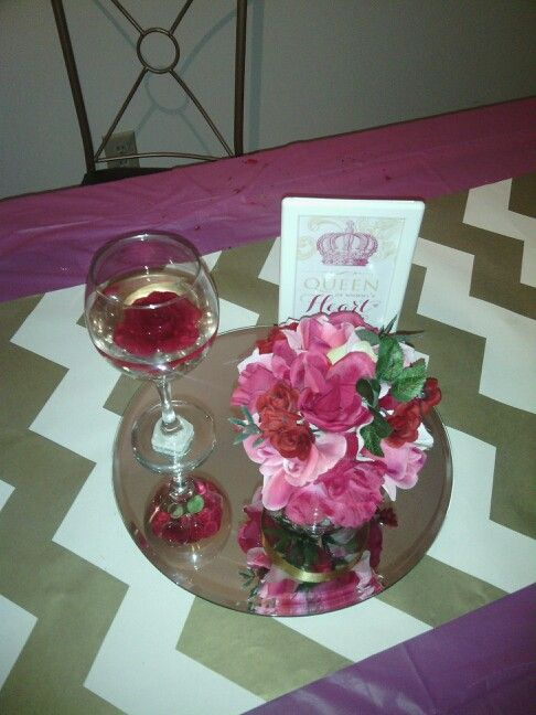 Dollar Tree Wedding Wine Glass Centerpiece With One