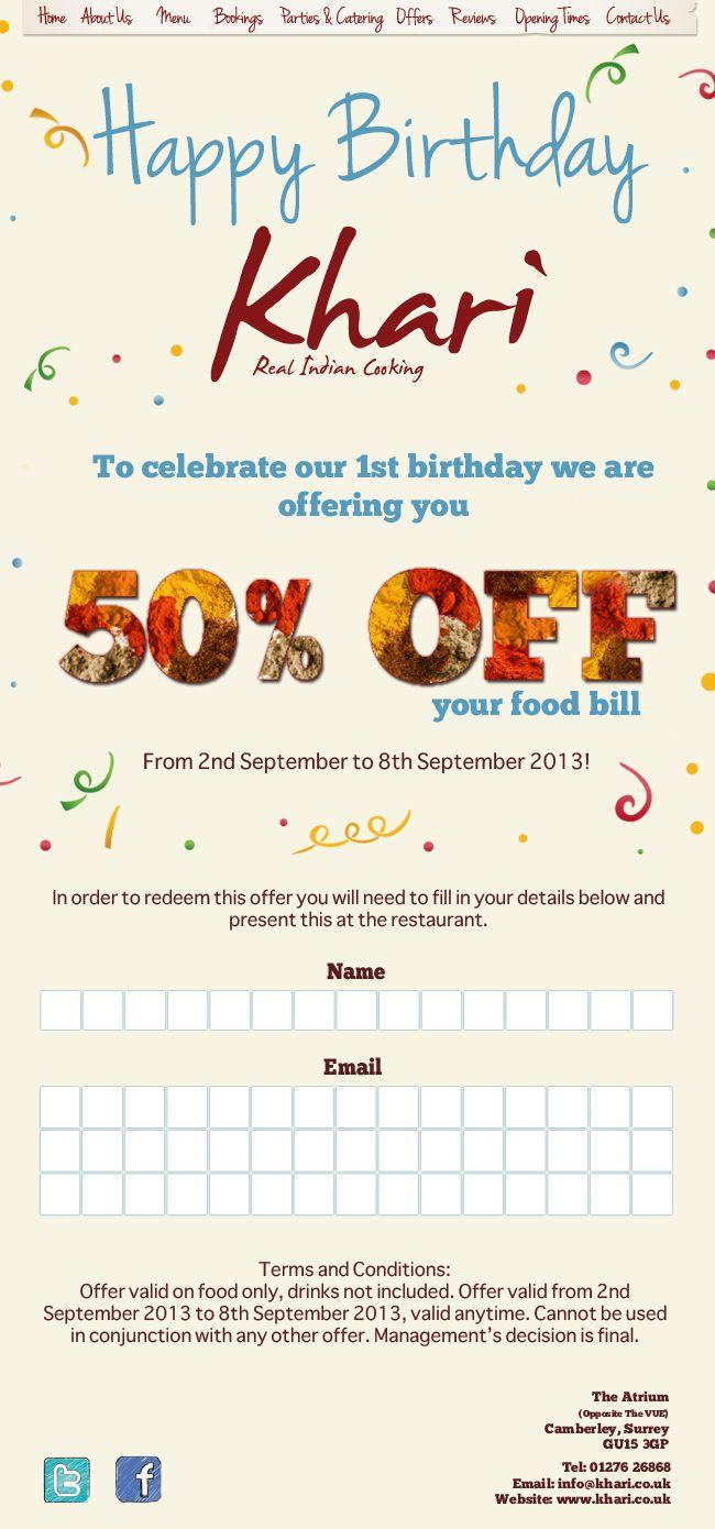 Khari - Birthday newsletter