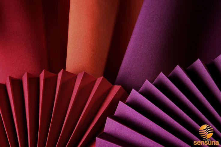 sensuna® Plissee Stoffe || pleated blind fabrics