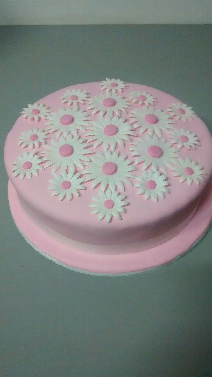 Torta Margaritas rosadas