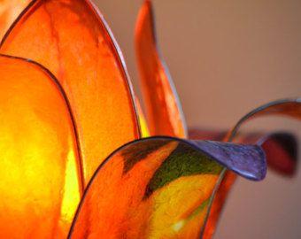 lampada fiore di loto tramonto africano -    Modifica inserzione  - Etsy