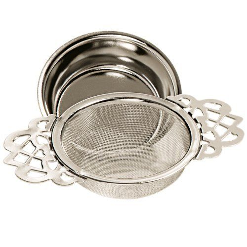 Stash Tea English Tea Strainer with Drip Cup : infusers & strainers