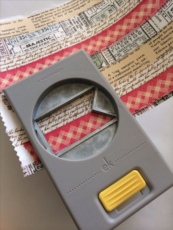 Stick washi tape on wax paper (or freezer paper), punch shapes and use the cut-outs as stickers on cards & scrapbook pages