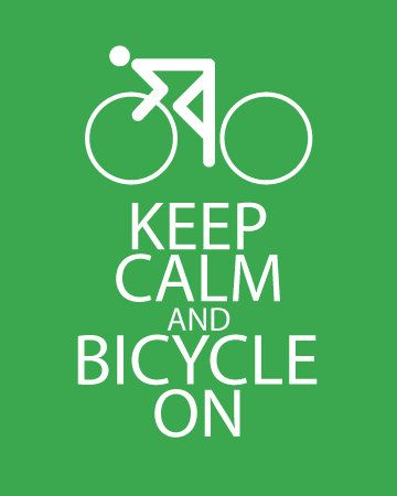 Keep Calm and Bicycle On Print Keep Calm by FunKeepCalmArtPrints