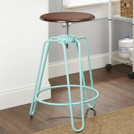 Better Homes and Gardens Adjustable-Height Spin Stool, Multiple Colors - Walmart.com