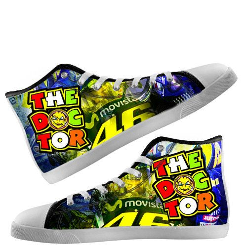 Custom Hi Tops Shoes Valentino Rossi The Doctor 46 by Bunchabe