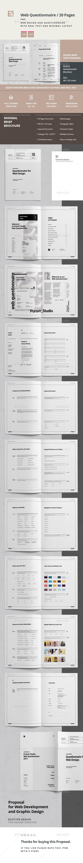 Questionnaire Web Design Web Design Proposal Design Simple Brochures