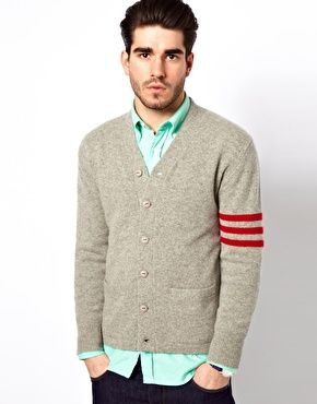 Gant Rugger : Cardigan à rayures style universitaire, taille M
