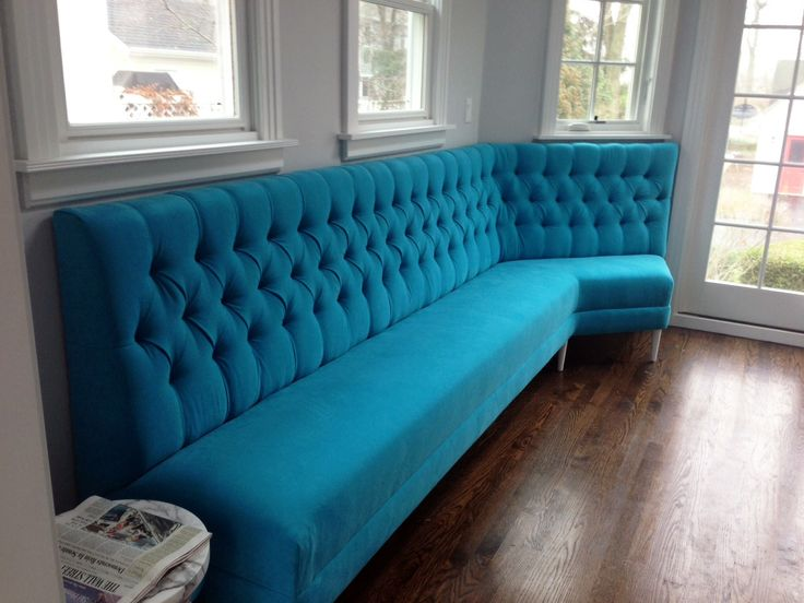 Captivating Check Out This Custom Tufted Banquette