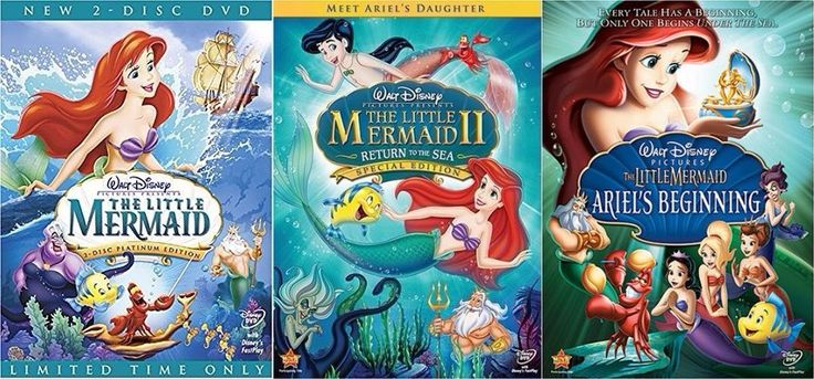 The Little Mermaid Trilogy (DVD)