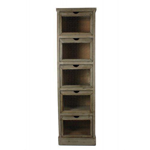 224 19 25 livraison meuble grainetier bois 5 tiroirs 46x36x163cm de d coration d 39 autrefois. Black Bedroom Furniture Sets. Home Design Ideas