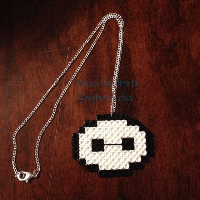 Baymax necklace perler beads by nightmothdiva