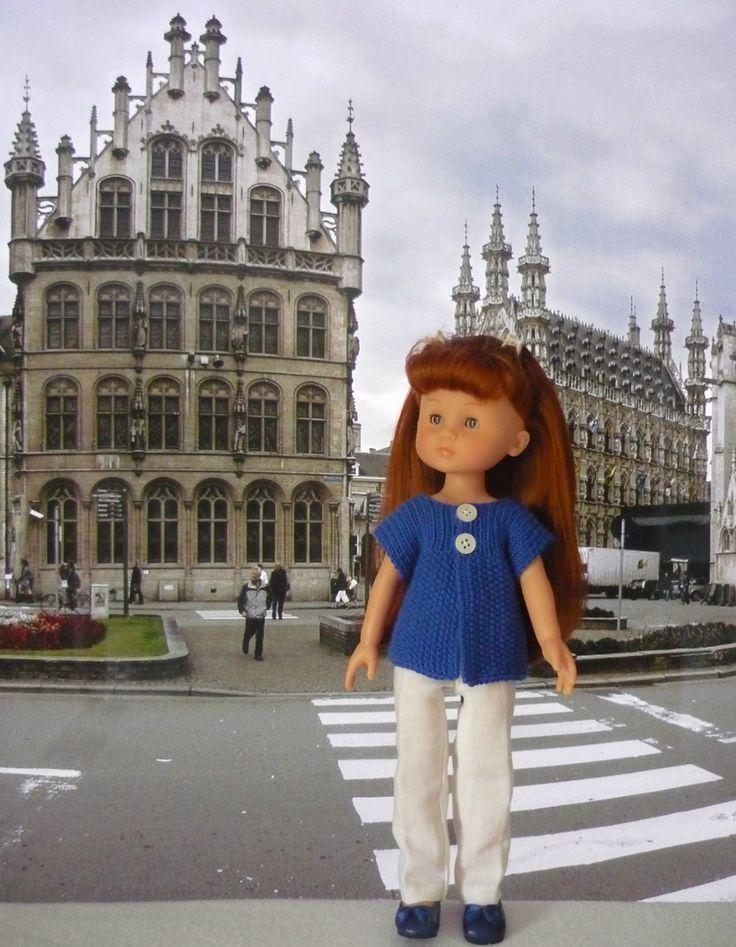 Tuto du gilet de Clara poupée de 33 cm - Louvain (1)