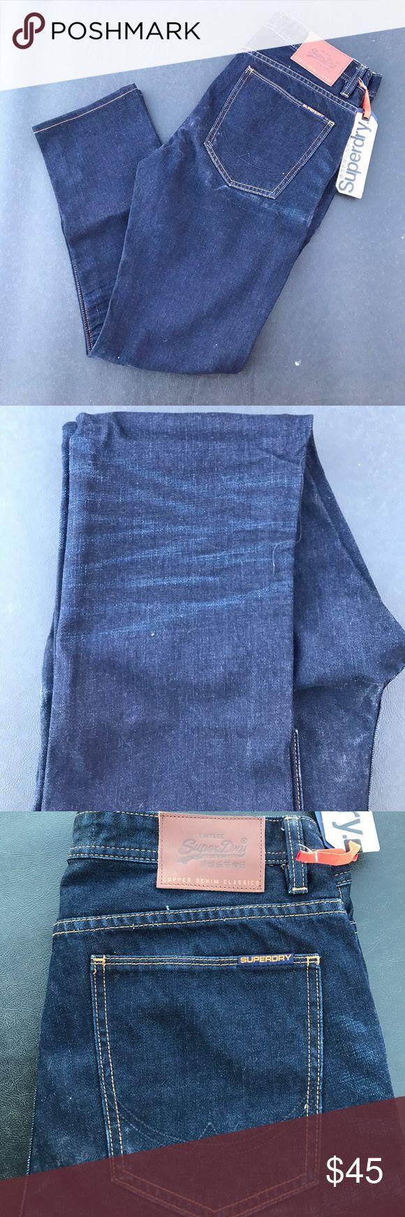 Superdry copper slim denim size 32w 32L Super dry copper slim denim size 32w 32L Superdry Jeans Slim