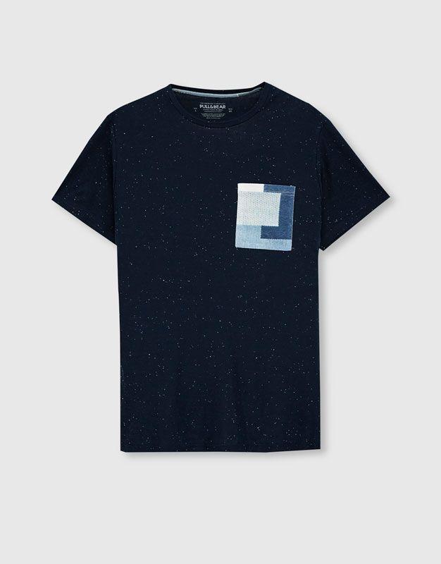 Short sleeve printed T-shirt with pocket - T-shirts - Clothing - Man - PULL&BEAR United Kingdom