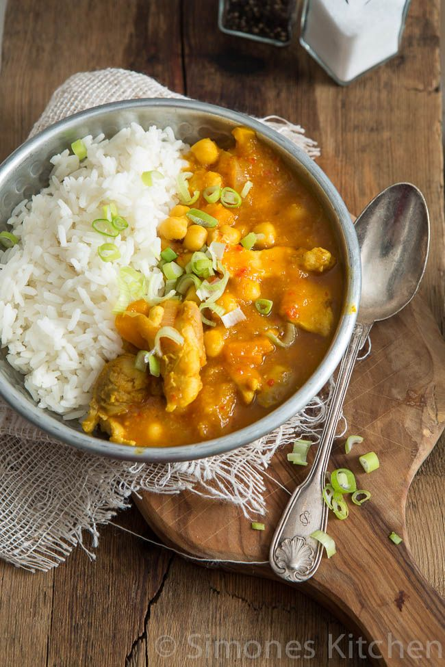 This delicious pukka yellow chicken curry recipe comes from jamie Oliver's book on 'savings' Great recipe!