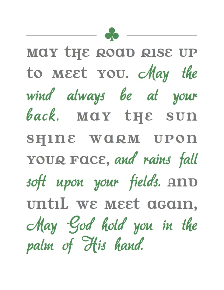 307 Best Irish Blessings Sayings Quotes Images On Pinterest