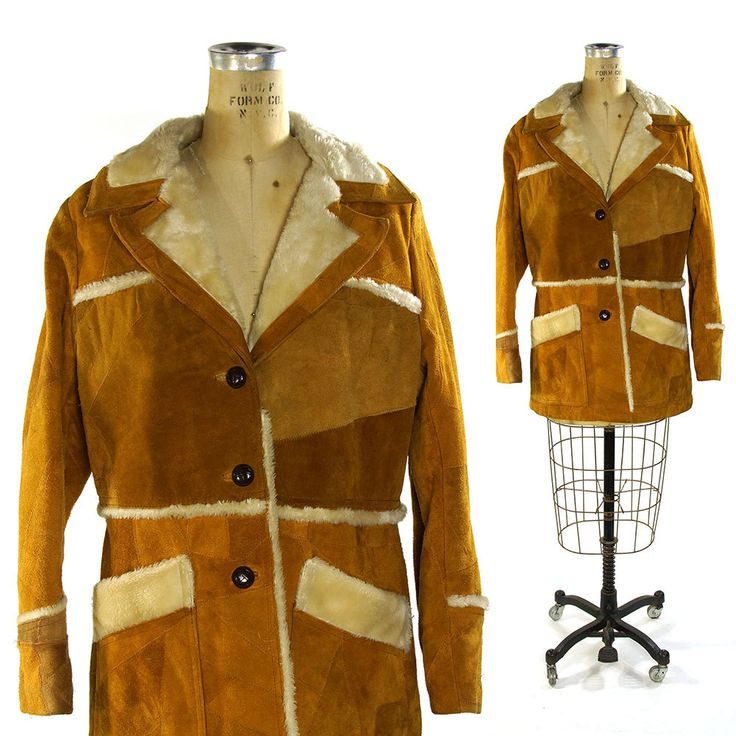 Suede Ranch Coat by JC Penny Western Apparel / Vintage 1970s Western Jacket with Faux Fur Lining by SpunkVintage on Etsy