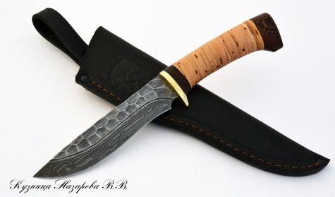 Нож Варан из дамасской стали