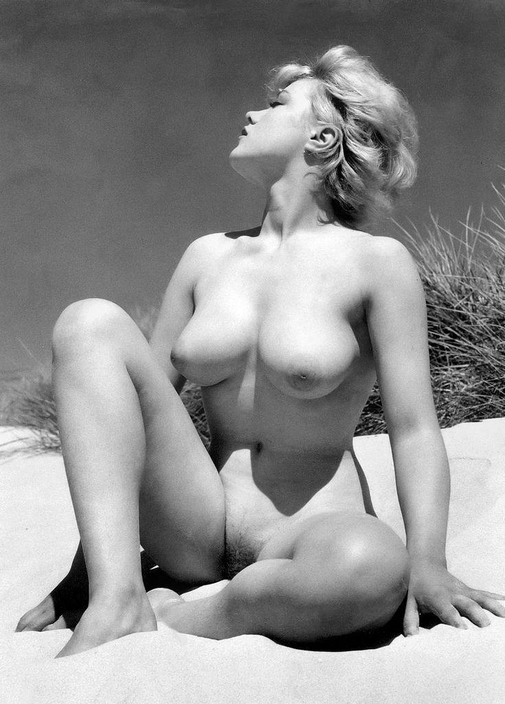 Margaret Nolan on the Beach