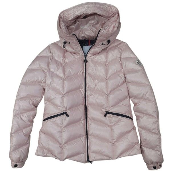 Pre-owned Moncler Jacket (18.040 RUB) ❤ liked on Polyvore featuring outerwear, jackets, pink, moncler jacket, pink jacket, moncler and white jacket