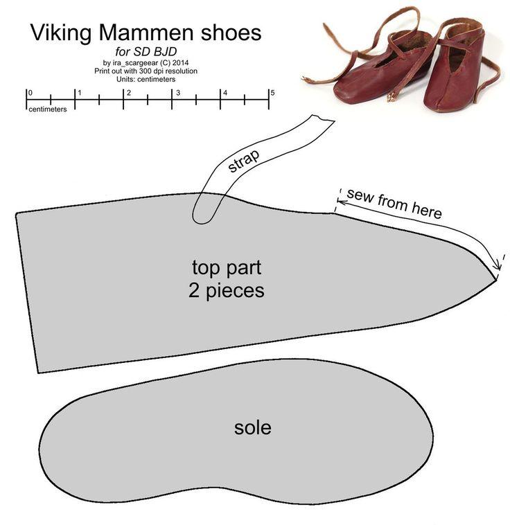 SD BJD Viking Mammen shoes by scargeear.deviantart.com on @deviantART