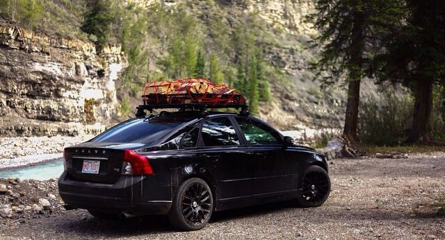 Volvo S40 T5 getting some good use.