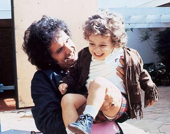 Roberto Carlos com o filho, Dudu