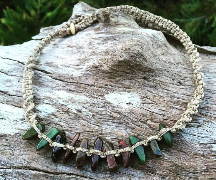 A personal favourite from my Etsy shop https://www.etsy.com/au/listing/496432486/handmade-hemp-macrame-necklace-with